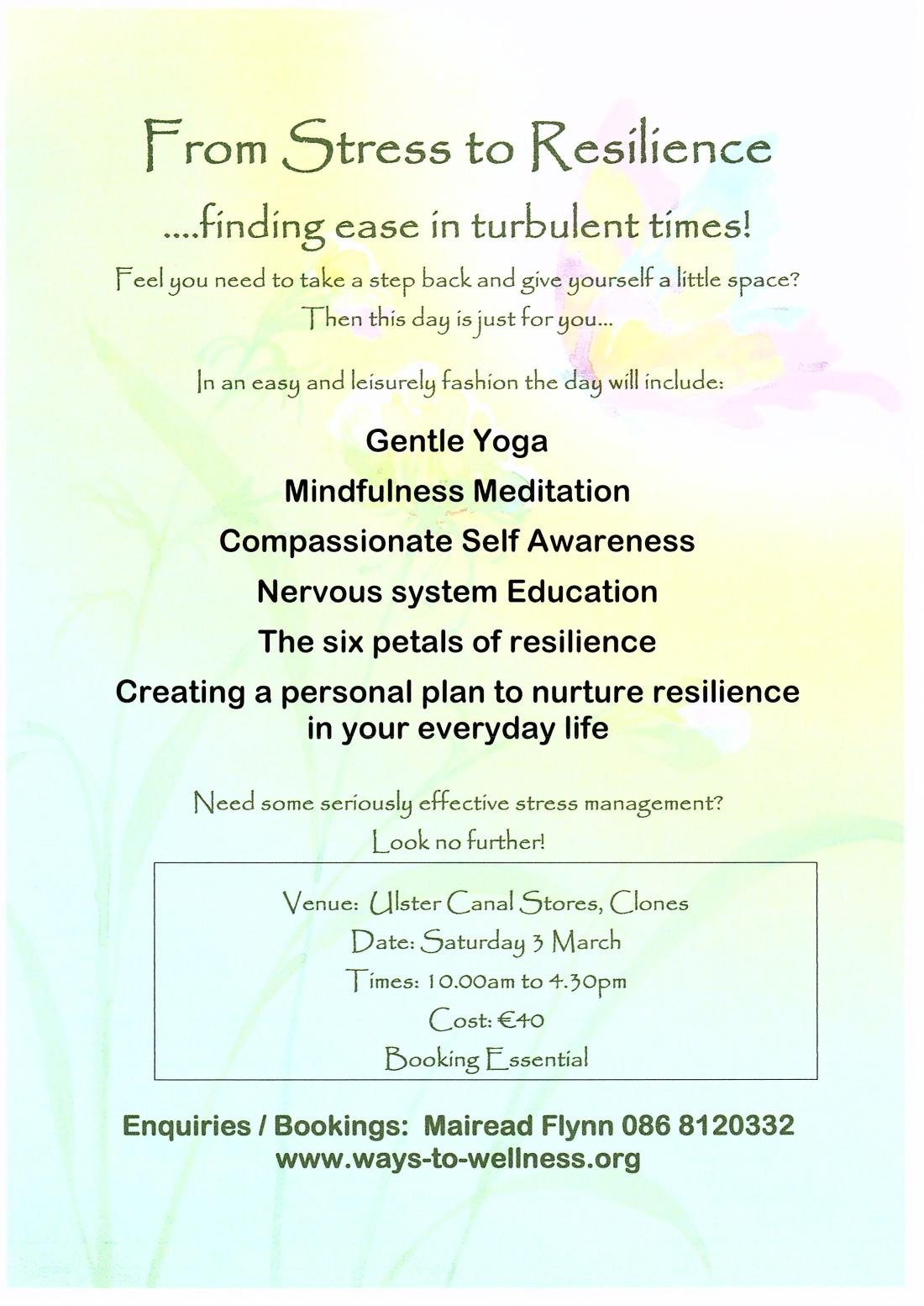 From Stress to Resilience March 18