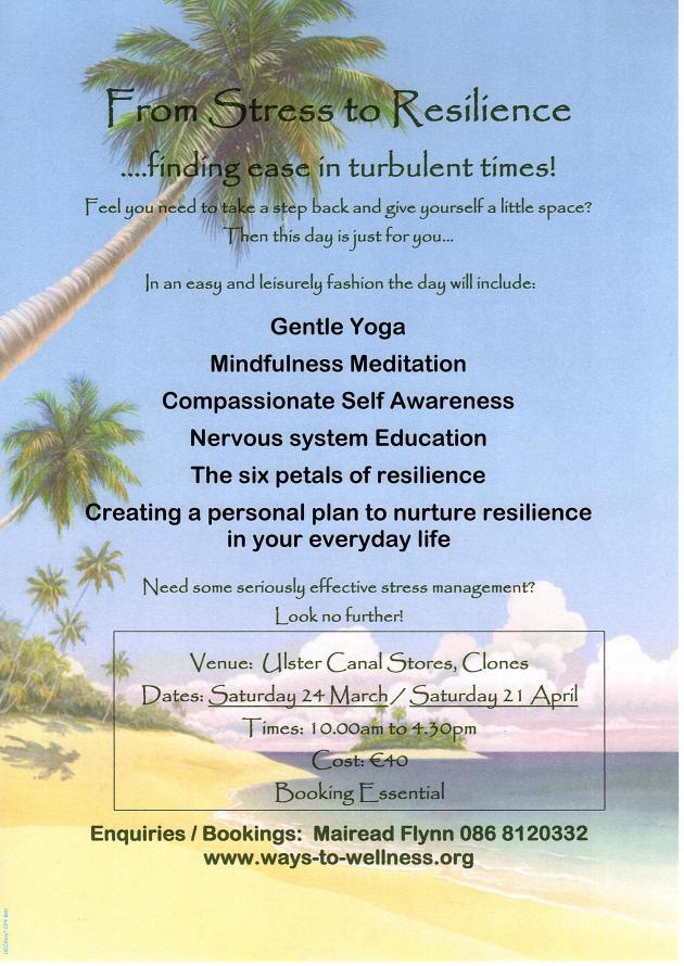 Finding Ease in Turbulent Times, new dates